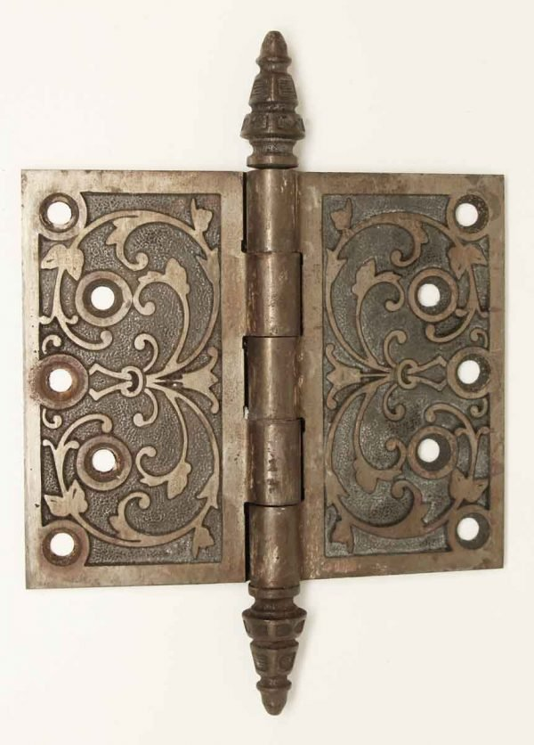 Door Hinges - Antique Cast Iron Decorative Door Hinge