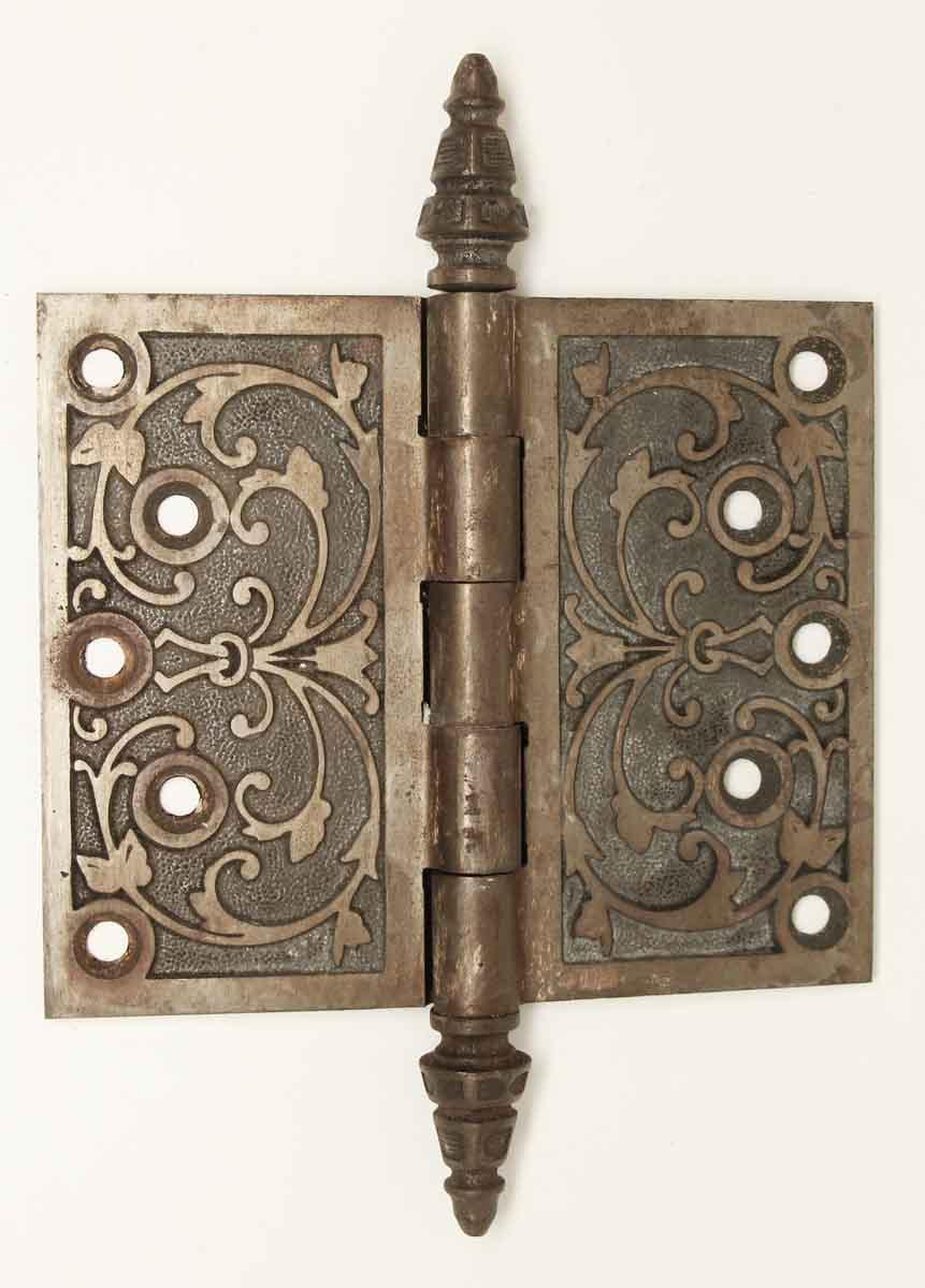 Door Hinges - Antique Cast Iron Decorative Door Hinge - Antique Cast Iron Decorative Door Hinge Olde Good Things