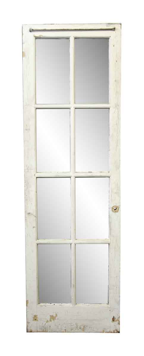 French Doors - Antique Old French White Door with Eight Lites