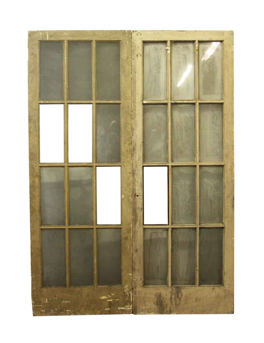 Pair of antique interior french doors olde good things french doors for sale n249115 rubansaba