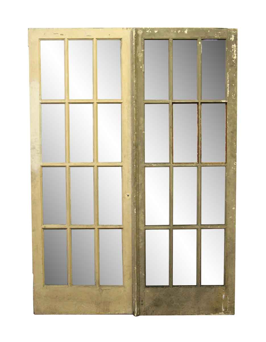 French Doors - Pair of Antique Interior French Doors - Pair Of Antique Interior French Doors Olde Good Things