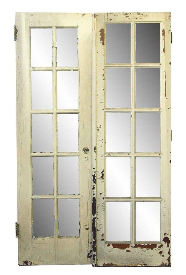 French Doors - Pair of Interior Old White French Doors