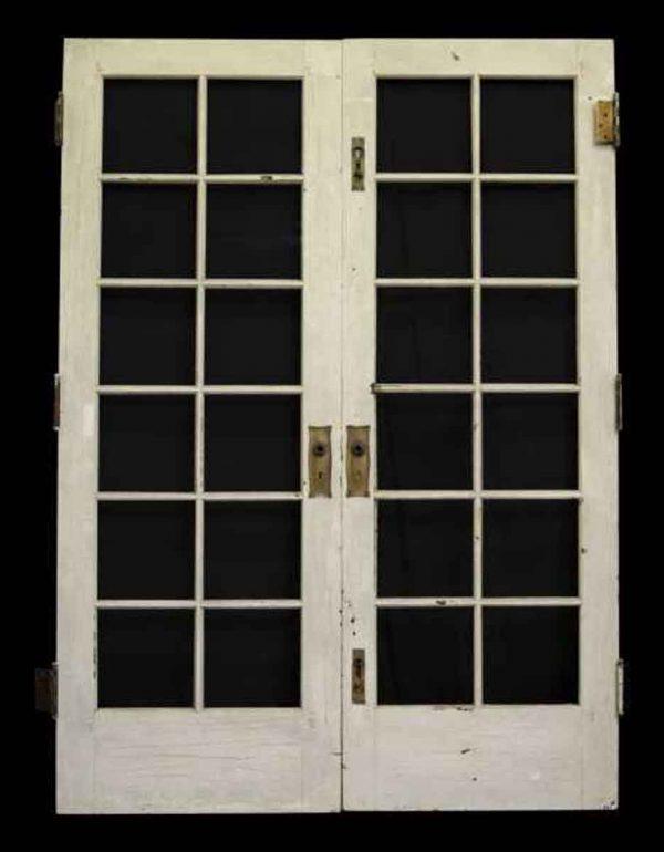 French Doors - Pair of Twelve Glass Panel French Doors
