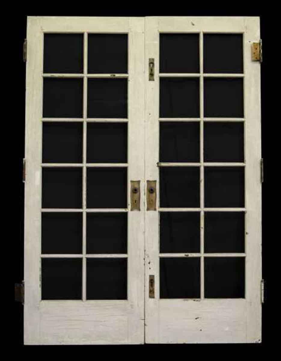Pair of twelve glass panel french doors olde good things french doors pair of twelve glass panel french doors rubansaba