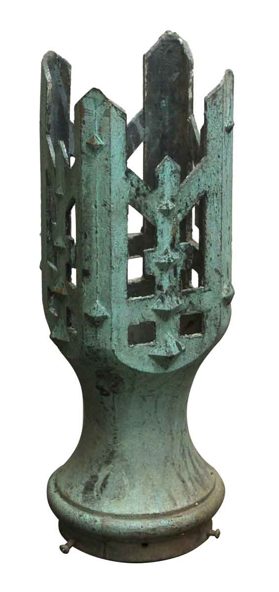 Industrial & Commercial - Gothic Cast Bronze Base for Exterior Light