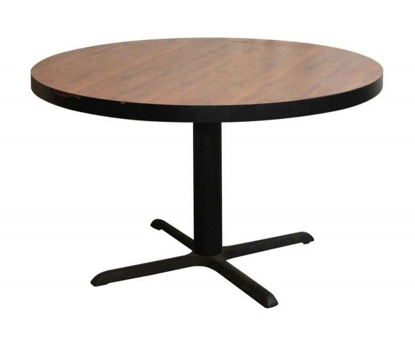 Kitchen & Dining - Salvaged Round Table with Black Base