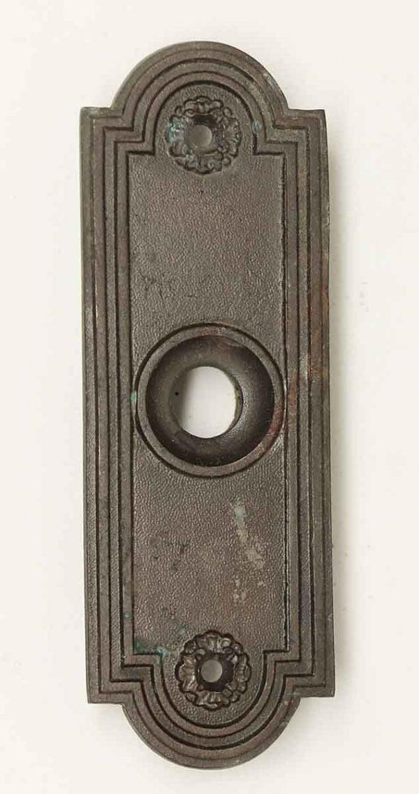 Knockers & Door Bells - Antique Art Deco Bronze Doorbell Cover