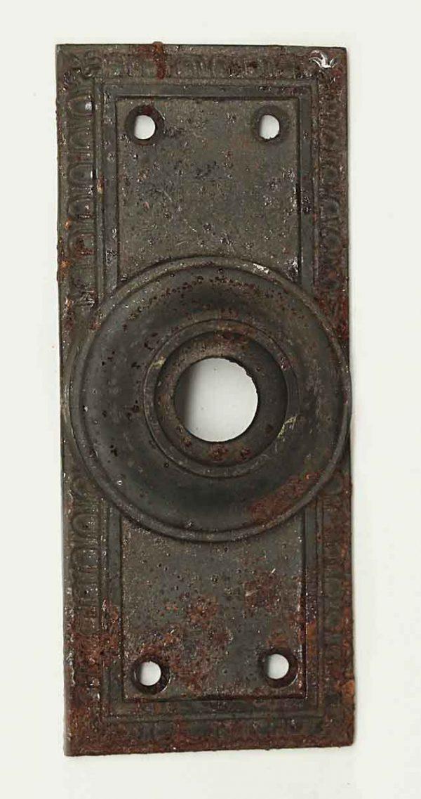 Knockers & Door Bells - Cast Iron Egg & Dart Door Bell Cover