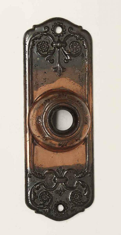 Knockers & Door Bells - Pressed Brass Ornate Door Bell Cover