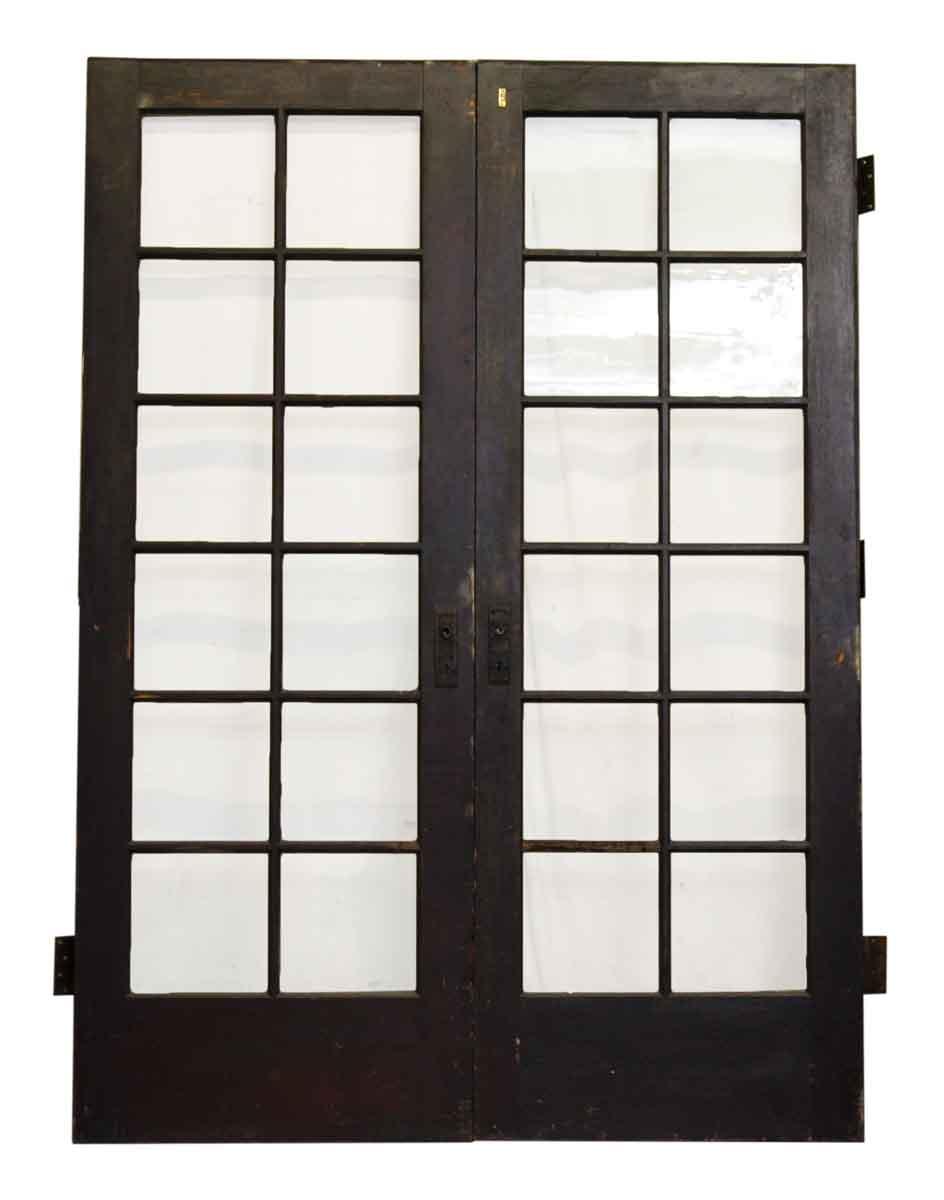 Pair of twelve glass panel french doors olde good things pair of twelve glass panel french doors rubansaba