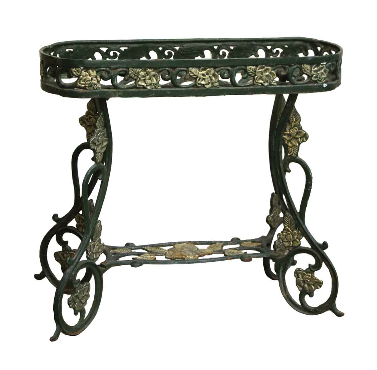 wrought iron green decorative plant stand olde good things. Black Bedroom Furniture Sets. Home Design Ideas