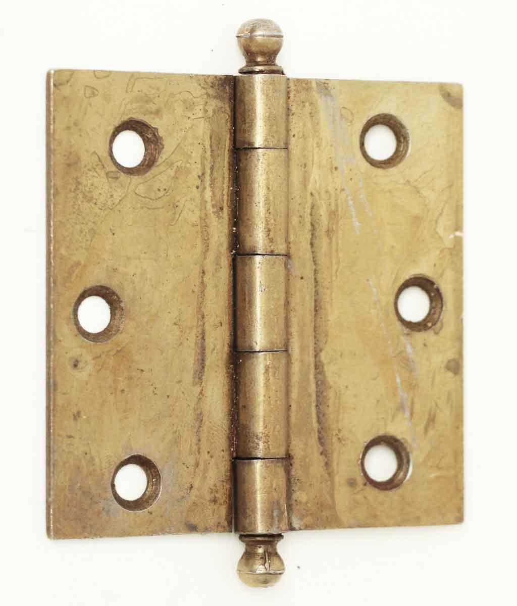Vintage Brass Plated Steel Cabinet Hinge
