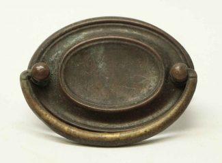 antique brass hepplewhite bail pull