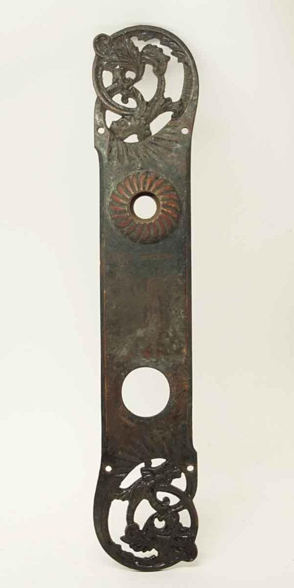 Antique Corbin Bronze Door Plate - Back Plates