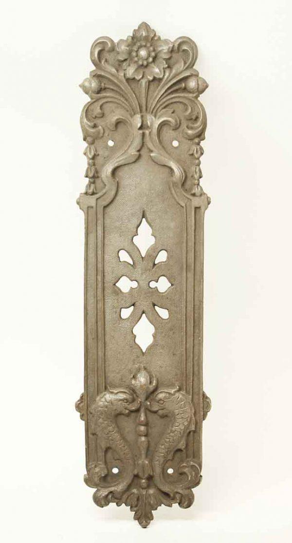 Antique Gothic Bronze Dragon Push Door Plate - Push Plates