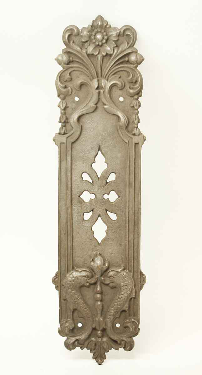 Antique Gothic Bronze Dragon Push Door Plate & Antique Gothic Bronze Dragon Push Door Plate | Olde Good Things