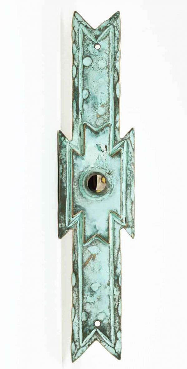 Verdigris Bronze Door Plate - Back Plates
