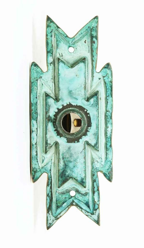 Bronze Back Plate with Verdigris Patina - Back Plates
