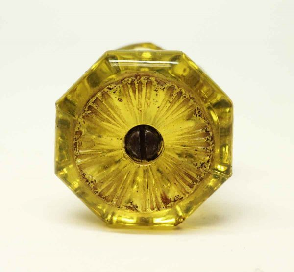 Vintage Yellow Glass Knob - Cabinet & Furniture Knobs