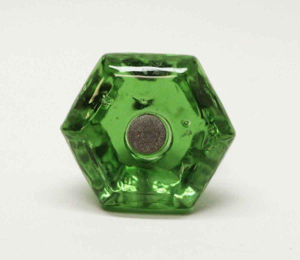 Single Vintage Green Glass Knob - Cabinet & Furniture Knobs