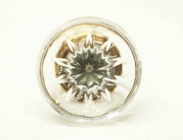 Vintage Clear Etched Glass Drawer Knob - Cabinet & Furniture Knobs