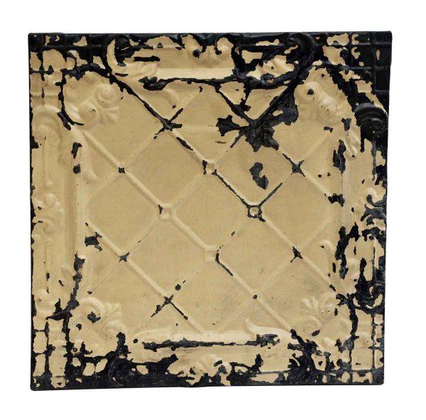 Cross Stitch Style Antique Tin Panel - Tin Panels