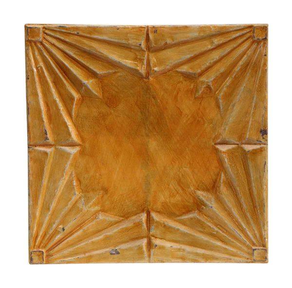 Orange Art Deco Antique Tin Panel - Tin Panels