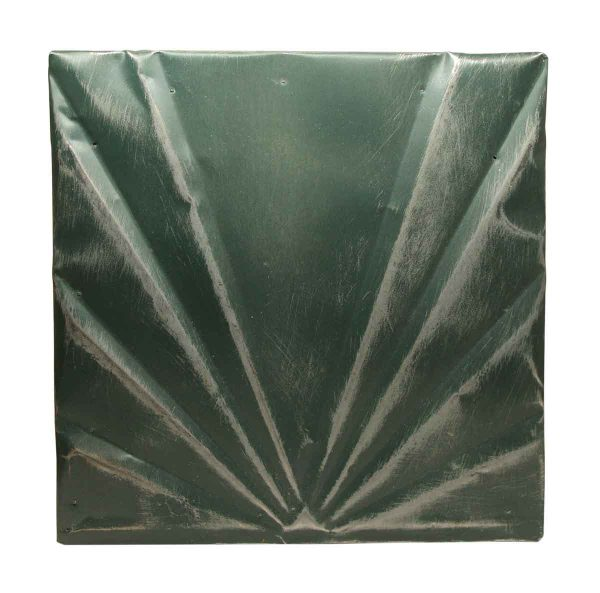 Green Art Deco Antique Tin Panel - Tin Panels