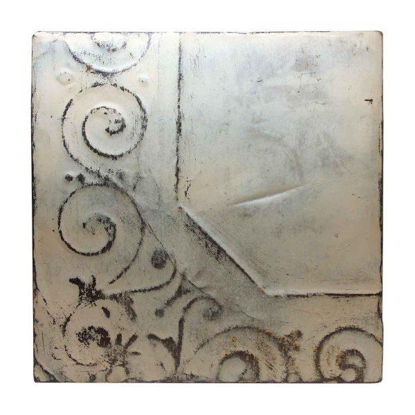 Off White Corner Pattern Antique Tin Panel - Tin Panels