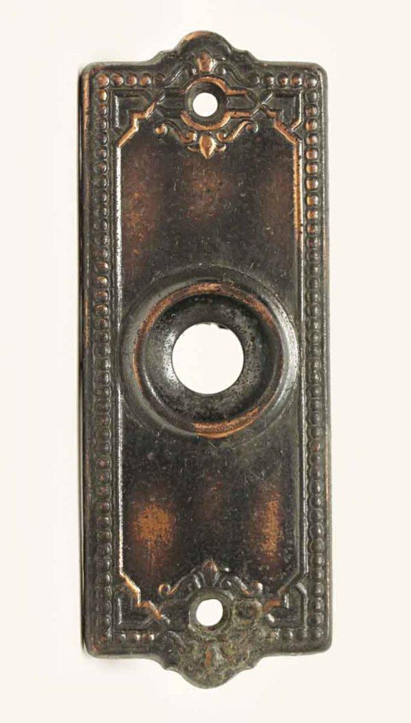 Vintage Beaded Brass Doorbell Cover - Knockers & Door Bells