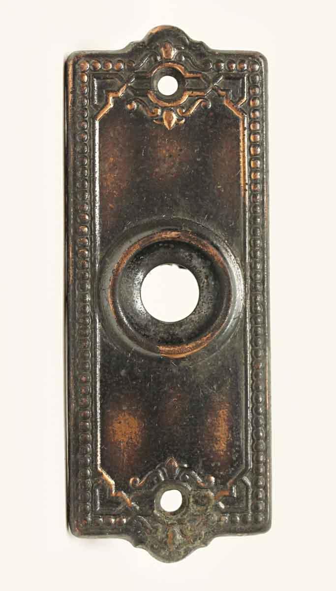 Vintage Beaded Brass Doorbell Cover - Vintage Beaded Brass Doorbell Cover Olde Good Things