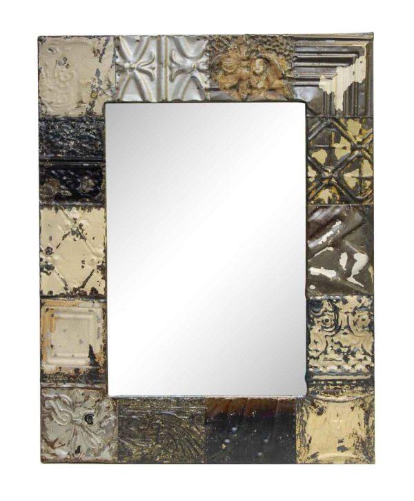 Multi Style Neutral Colored Antique Tin Mirror - Antique Tin Mirrors