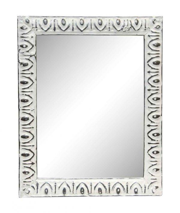 White Egg & Dart Antique Cove Tin Mirror - Antique Tin Mirrors