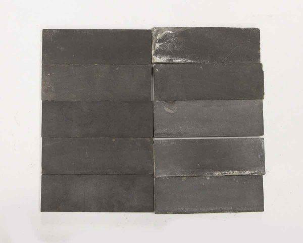 Set of 186 Matted Black Tiles - Floor Tiles