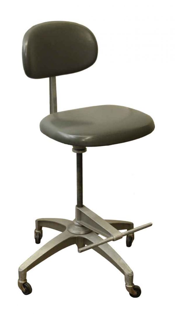 Office Furniture - Shaw Walker Adjustable Gray Steel Chair
