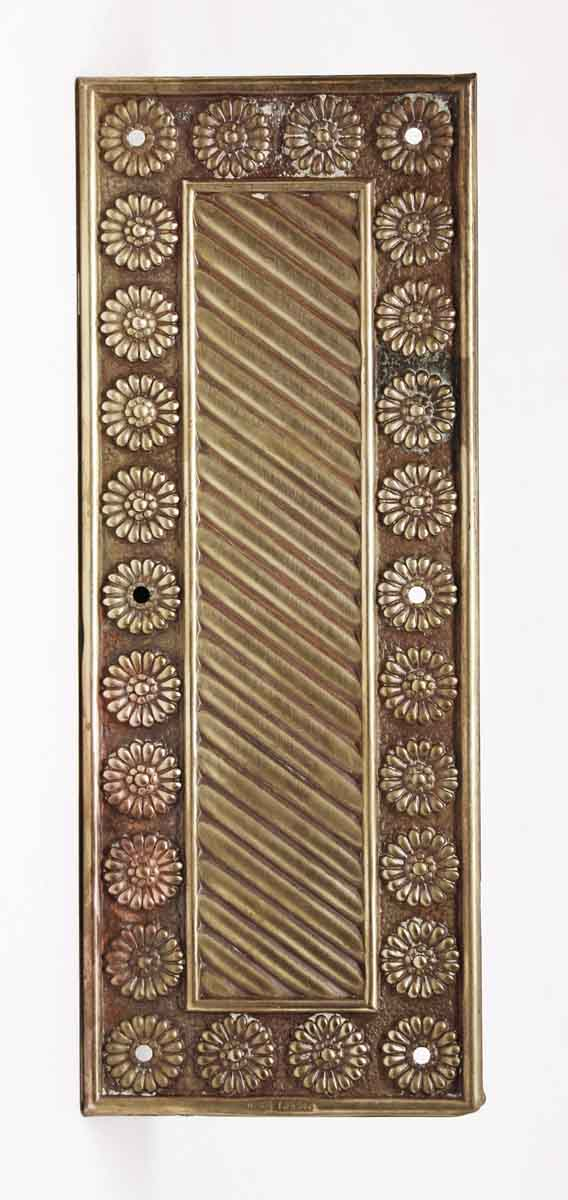 Push Plates - Antique Brass Floral Door Push Plate - Antique Brass Floral Door Push Plate Olde Good Things