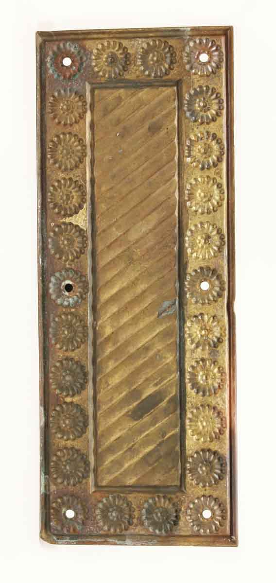 Antique Brass Floral Door Push Plate | Olde Good Things