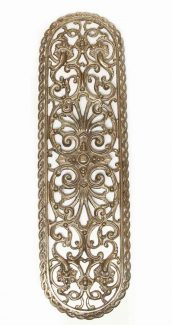 French Gilded Cutout Brass Door Plate