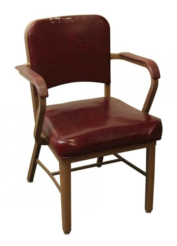 Seating - Vintage Red Padded Tanker Arm Chair