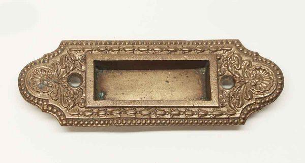 Window Hardware - Antique Beaded Brass Ornate Window Sash Lift