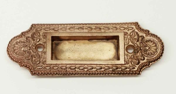 Window Hardware - Antique Copper Washed Brass Ornate Window Sash Lift
