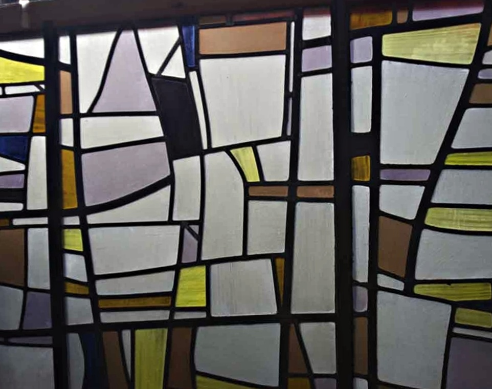 Wall Of Antique Stained Glass Windows In Scranton Pa National Warehouse 24