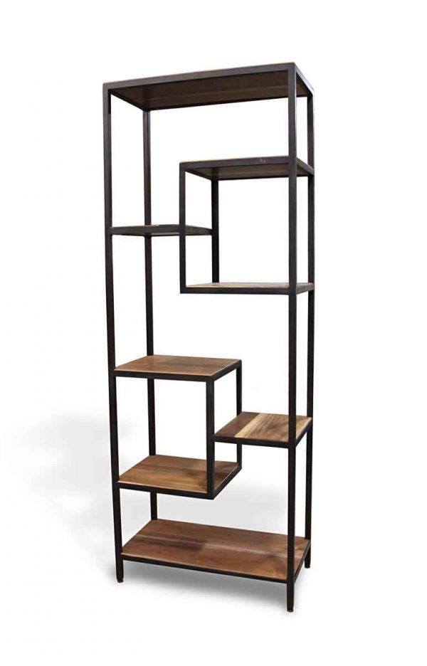 Altered Antiques - Handmade Walnut & Black Steel Modern Shelf
