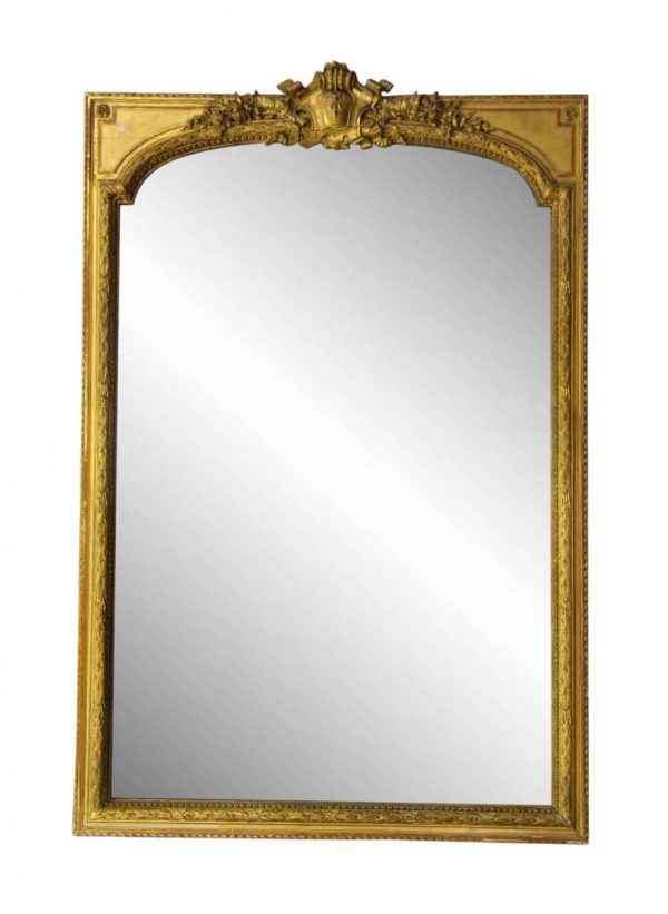 Antique Mirrors - Antique French Ornate Gilt Mirror