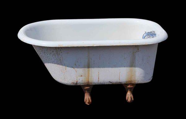 Bathroom - Salvaged White Cast Iron Claw Foot Bathtub