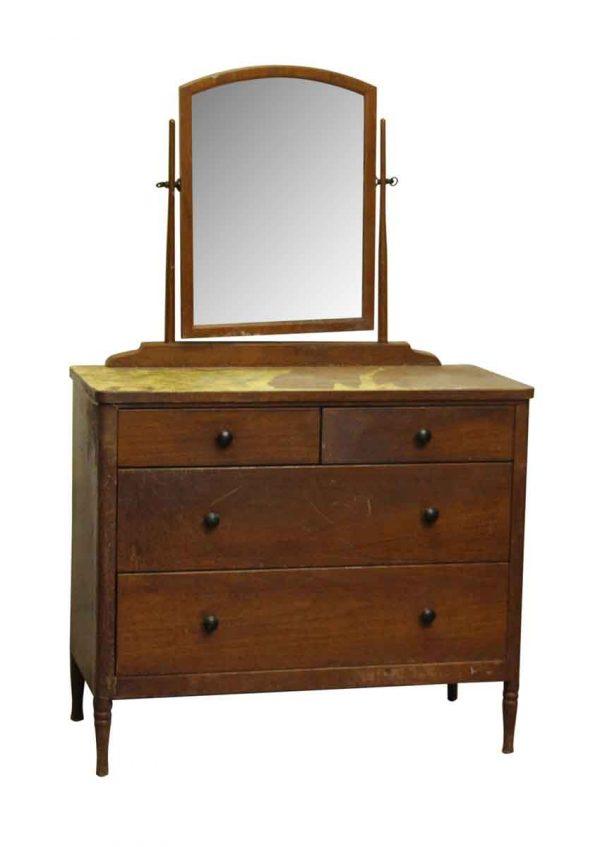 Bedroom - Vintage Metal Dresser with Wood Veneer