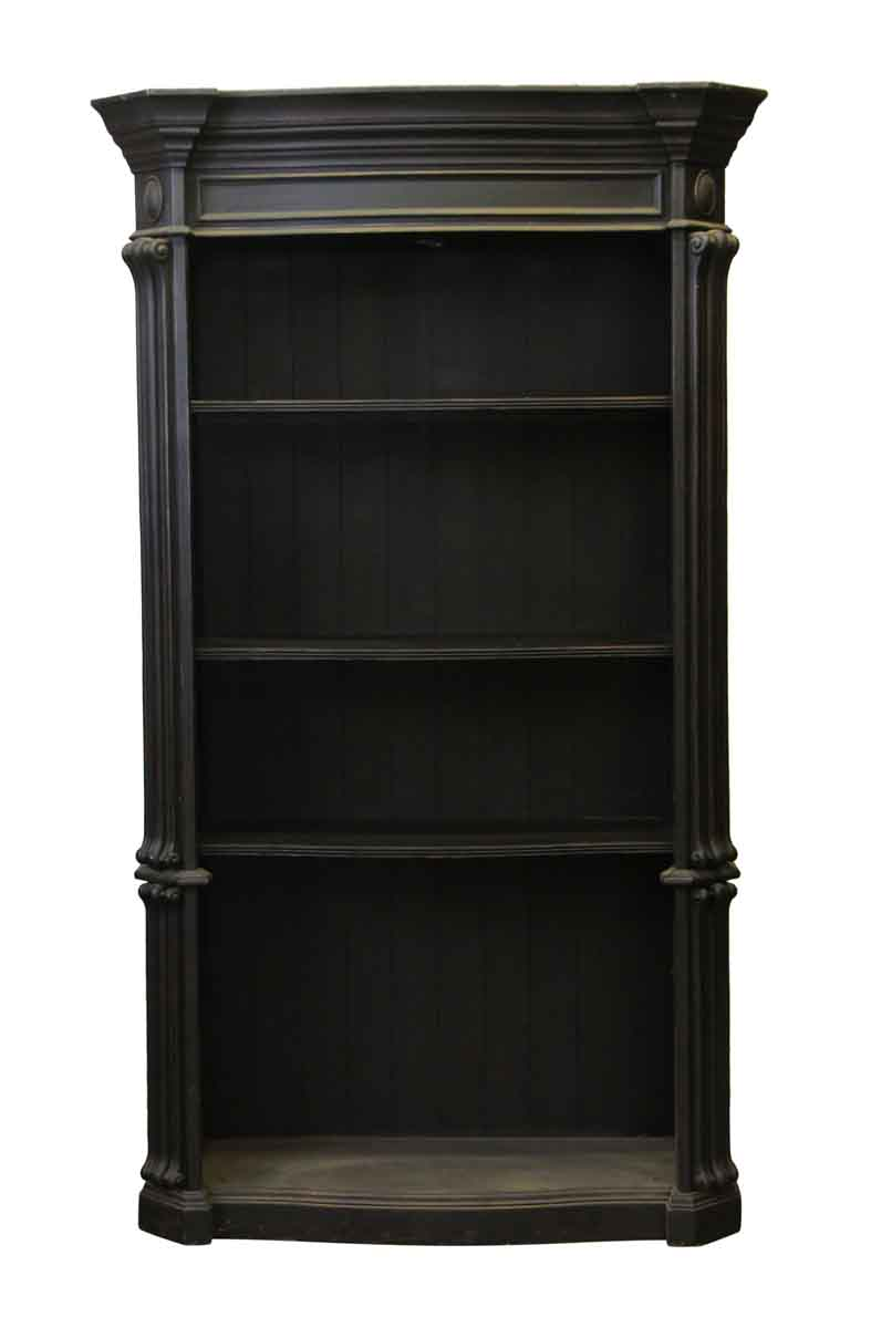 Large Victorian Black Wooden Bookcase Olde Good Things