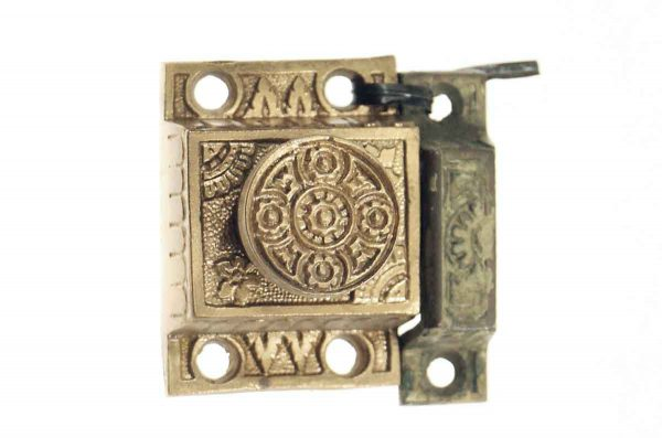 Cabinet & Furniture Latches - Antique Aesthetic Brass Plated Cabinet Latch