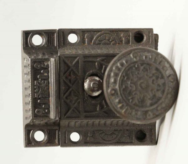 Cabinet & Furniture Latches - Antique Aesthetic Cast Iron Cabinet Latch with Lock