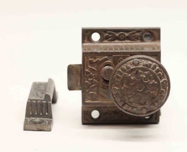 Cabinet & Furniture Latches - Antique Cast Iron Cabinet Latch Lock